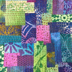 Paint_Stenciled_Kantha_Quilt