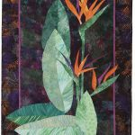 Birds of Paradise; started in class with Ruth B. McDowell; commercial and hand-dyed cotton, machine stitching