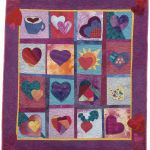 Heart Beet; hand-dyed cotton, quilted by Laura Lee Fritz
