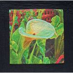 Inkjet Calla - inkjet printed on cotton, machine stitching