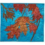 Maple Leaves - hand-dyed cotton, machine and hand stitching